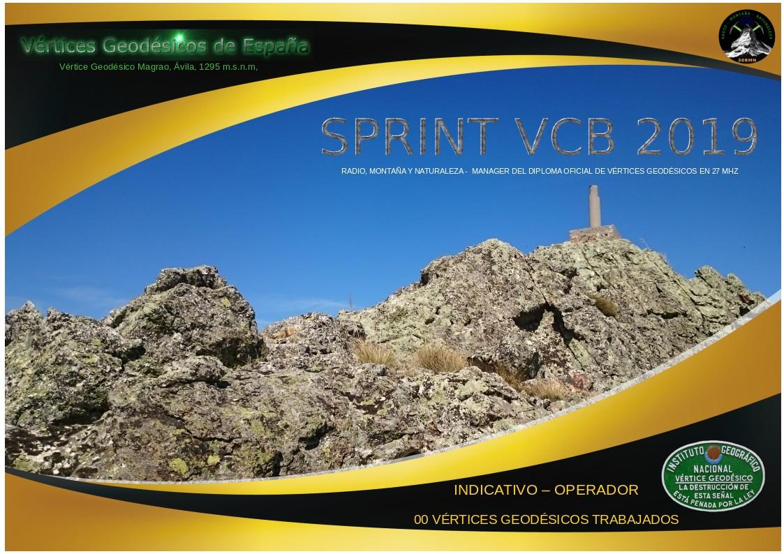 """Diploma para Cazadores """"SPRINT VCB 2019"""""""